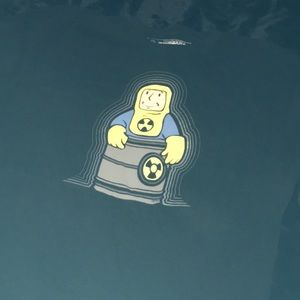 Fallout glow in the dark vault boy T-shirt